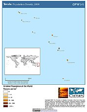 Map: Population Density (2000): Tuvalu