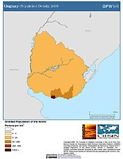 Map: Population Density (2000): Uruguay
