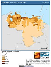 Map: Population Density (2000): Venezuela