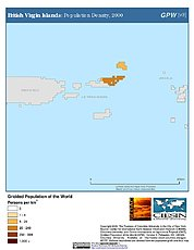 Map: British Virgin Islands: Population Density, 2000