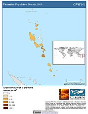 Map: Population Density (2000): Vanuatu