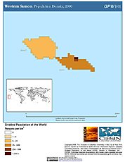 Map: Population Density (2000): Western Samoa