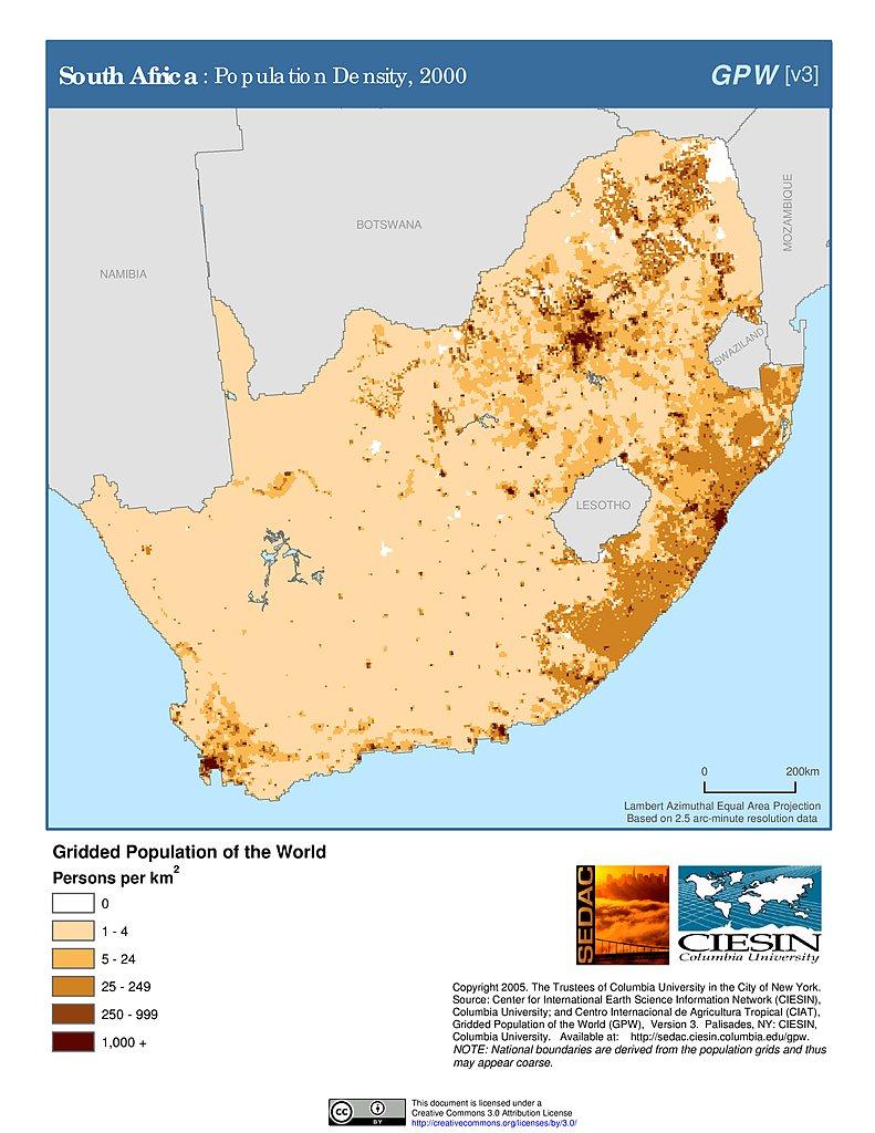 Maps » Population Density Grid, v3:   SEDAC