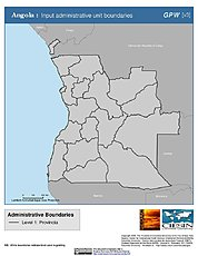 Map: Administrative Boundaries: Angola