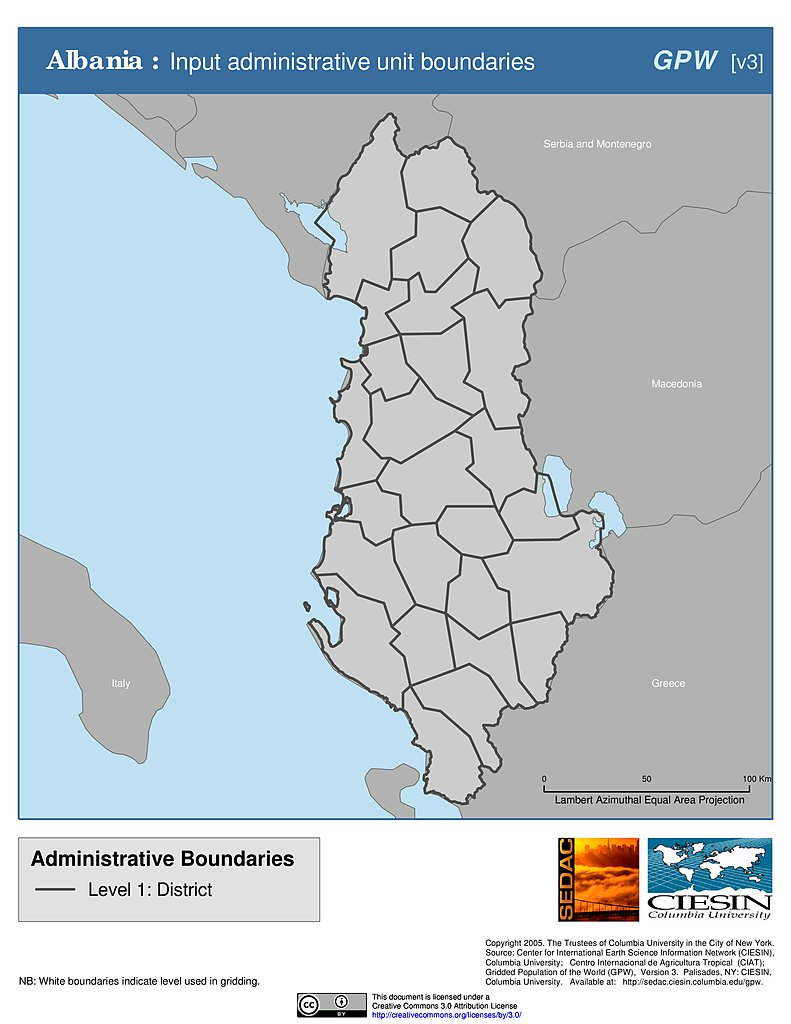 Maps Subnational Administrative Boundaries v3 SEDAC