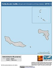 Map: Administrative Boundaries: Netherlands Antilles