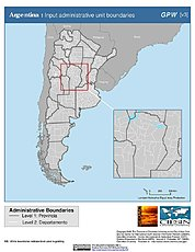 Map: Administrative Boundaries: Argentina