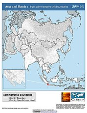 Map: Administrative Boundaries: Asia & Russia