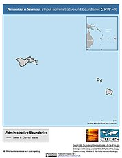 Map: Administrative Boundaries: American Samoa