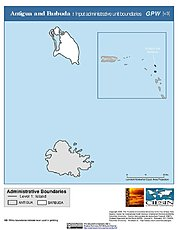 Map: Administrative Boundaries: Antigua & Barbuda
