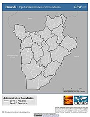 Map: Administrative Boundaries: Burundi