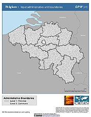 Map: Administrative Boundaries: Belgium