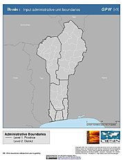 Map: Administrative Boundaries: Benin