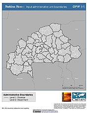 Map: Administrative Boundaries: Burkina Faso