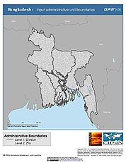 Map: Administrative Boundaries: Bangladesh