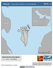 Map: Administrative Boundaries: Bahrain