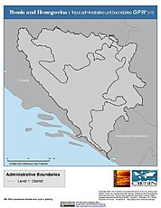 Map: Administrative Boundaries: Bosnia & Herzegovina