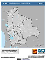 Map: Administrative Boundaries: Bolivia