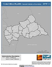 Map: Administrative Boundaries: Central African Republic