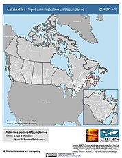Map: Administrative Boundaries: Canada