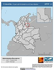 Map: Administrative Boundaries: Colombia