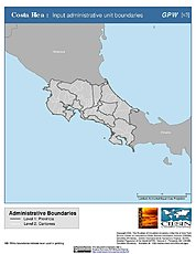 Map: Administrative Boundaries: Costa Rica