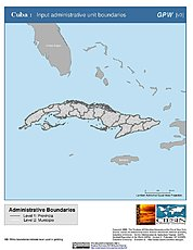 Map: Administrative Boundaries: Cuba