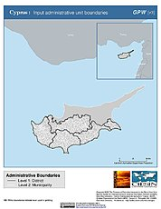 Map: Administrative Boundaries: Cyprus