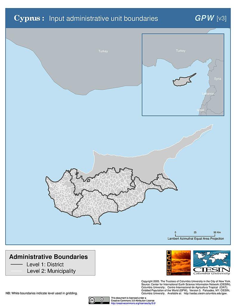 Cyprus Map Pdf