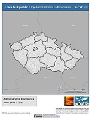 Map: Administrative Boundaries: Czech Republic
