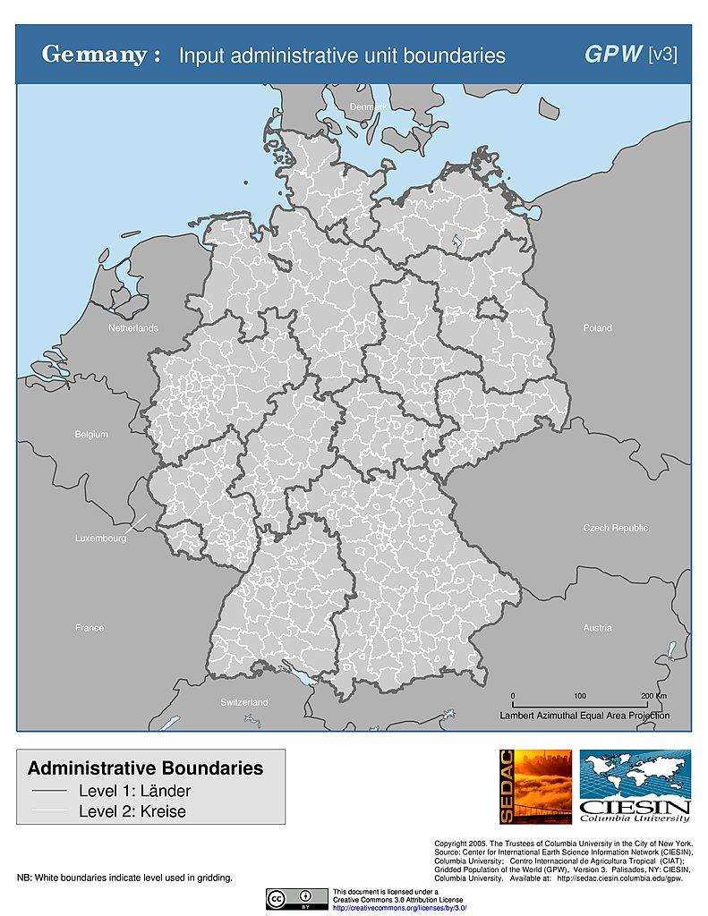 Map Of Germany Lander.Map Gallery Sedac
