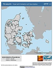 Map: Administrative Boundaries: Denmark
