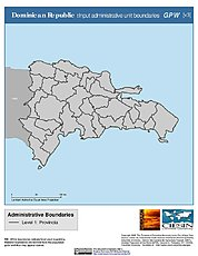 Map: Administrative Boundaries: Dominican Republic