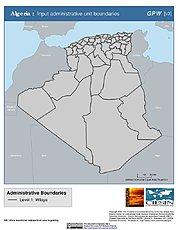 Map: Administrative Boundaries: Algeria