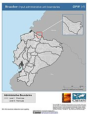Map: Administrative Boundaries: Ecuador