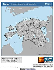 Map: Administrative Boundaries: Estonia