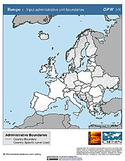 Map: Administrative Boundaries: Europe