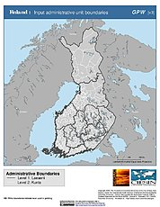 Map: Administrative Boundaries: Finland