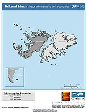 Map: Administrative Boundaries: Falkland Islands