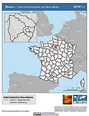 Map: Administrative Boundaries: France
