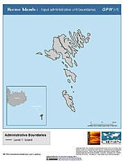 Map: Administrative Boundaries: Faeroe Islands