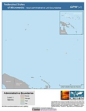 Map: Administrative Boundaries: Micronesia