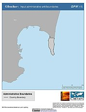 Map: Administrative Boundaries: Gibraltar