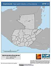 Map: Administrative Boundaries: Guatemala