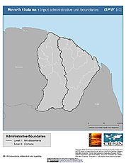 Map: Administrative Boundaries: French Guiana