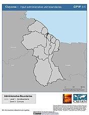 Map: Administrative Boundaries: Guyana