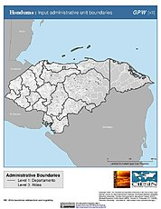 Map: Administrative Boundaries: Honduras