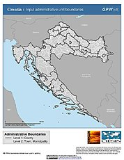 Map: Administrative Boundaries: Croatia