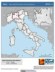 Map: Administrative Boundaries: Italy