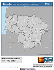 Map: Administrative Boundaries: Lithuania